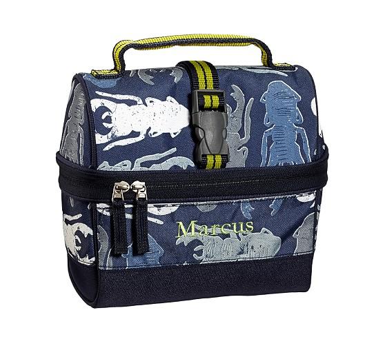 Mackenzie Blue Bug Retro Lunch Bag