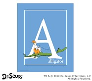 Dr. Seuss™ Alphabet Prints, Letter A, Blue, Alligator