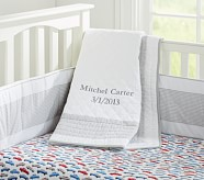 Peyton Nursery Quilt, Gray