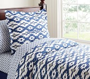 Asher Duvet Cover, Twin, Navy