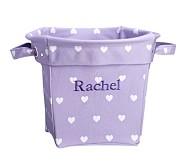 Heart Medium Canvas Storage, Lavender