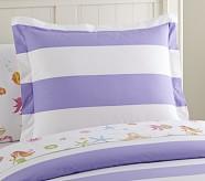 Rugby Stripe Standard Sham, Lavender
