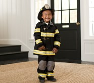 Personalized Firefighter Halloween Costume & Helmet, Size 2-3