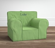 Oversized Anywhere Chair® Insert & Slipcover Set, Grass Green