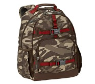 Brown Camo Large Backpack