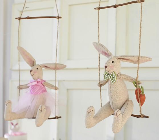 Swinging Bunny Decor, Boy