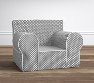 Gray Mini Dot Oversized Anywhere Chair®