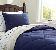 Cozy Plush Comforter, Twin, Navy