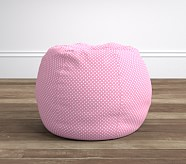 Anywhere Beanbag® Insert & Slipcover Set, Light Pink Mini Dot