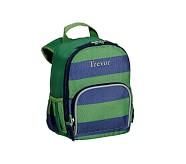 Pre-K Backpack, Fairfax Green/Navy Stripe