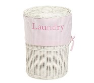 Light Pink Gingham Sabrina Hamper Liner