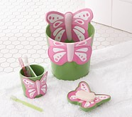 Butterfly Bath Accessories, Tooth Brush Holder