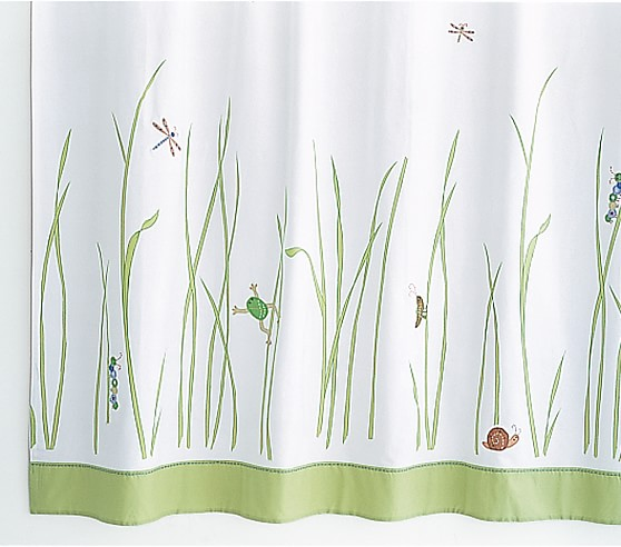 Spring meadow shower curtain pottery barn kids