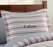 Lakehouse Stripe Standard Sham, Navy