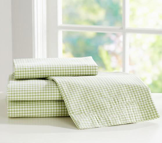 Gingham Standard Pillowcase, Green