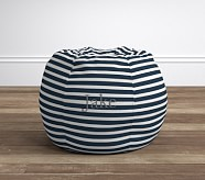 Breton Stripe Navy Anywhere Beanbag®