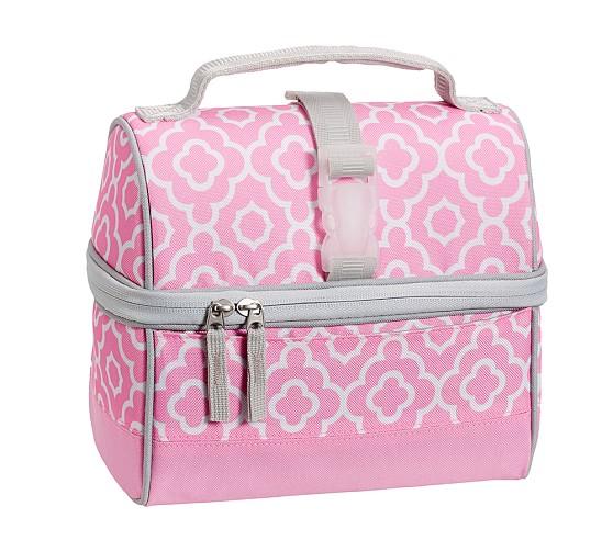 Retro Lunch Bag, Mackenzie Pink Geo
