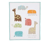 Organic Safari Animals Nursery Quilt