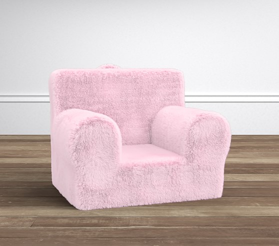 Anywhere Chair Slipcover, Pink Fur