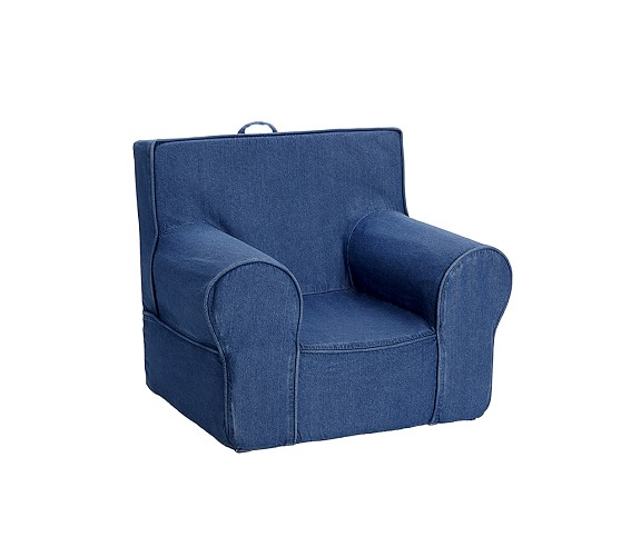 Denim Anywhere Chair Replacement Slipcover