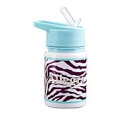 Mackenzie Water Bottle, Turquoise Zebra