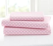 Mini Dot Toddler Sheet Set, Pink