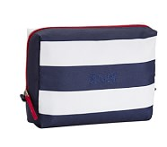 Large Toiletry Bag, Fairfax Navy/White Stripe