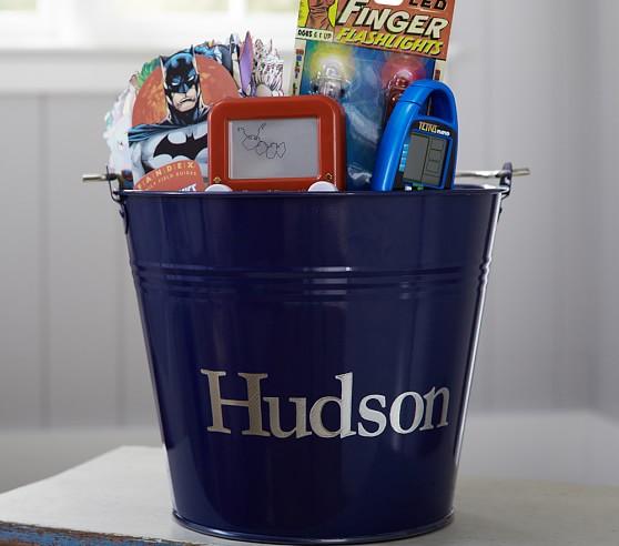 Blue Gift Bucket