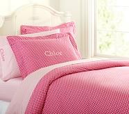 Mini Dot Duvet Cover, Twin, Bright Pink