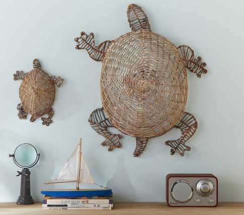 Wicker Turtle Decor, Large