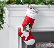 St. Bernard Dog Quilted Stocking