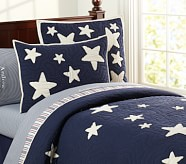 Star Quilt, Twin, Navy