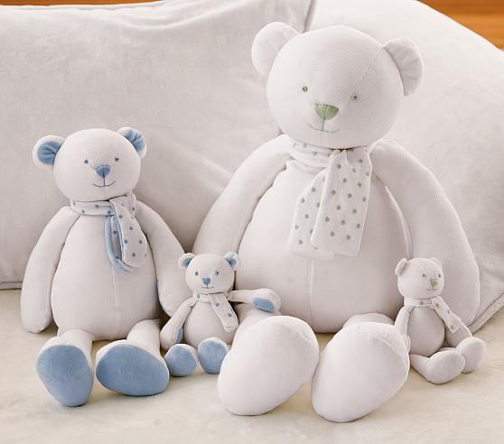 Scallop Dot Pique Plush Bear, Pink Dot, Mini