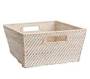 Extra Large Quinn White Washed Basket