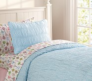 Jacqueline Duvet Cover, Twin, Blue