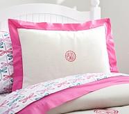 Bright Border Linen Standard Sham, Bright Pink