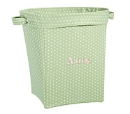 Green Mini Dot Large Canvas Bucket