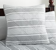 Jackson Euro Quilted Sham, Gray