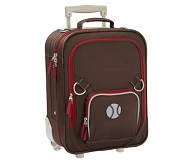 Fairfax Chocolate/Red Small Luggage, Baseball