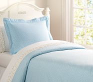 Mini Dot Duvet Cover, Twin, Blue