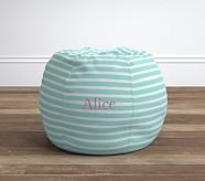 Breton Stripe Aqua Anywhere Beanbag®