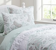 Evelyn Butterfly Quilt, Twin, Sage