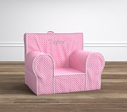 Regular Light Pink with White Piping Mini Dot Anywhere Chair®