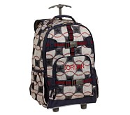 Rolling Backpack, Mackenzie Blue Baseball