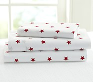 Star Toddler Sheet Set, Red
