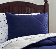 Cozy Plush Standard Sham, Navy