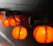 Burlap Pumpkin String Lights