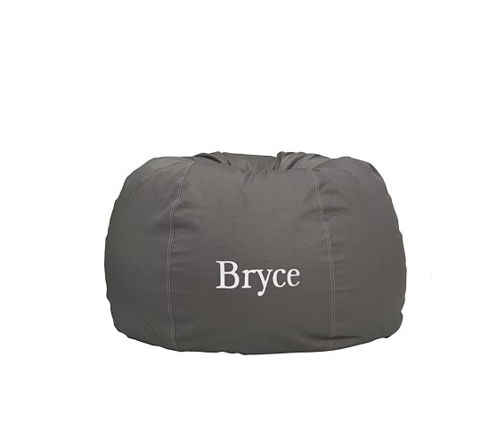 Anywhere Beanbag Slipcover, Gray Stitch