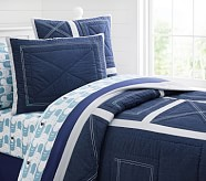 Chambray Patch Quilt, Twin