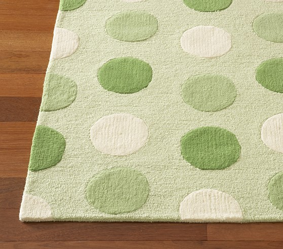 Green Allie Dot Rug Swatch